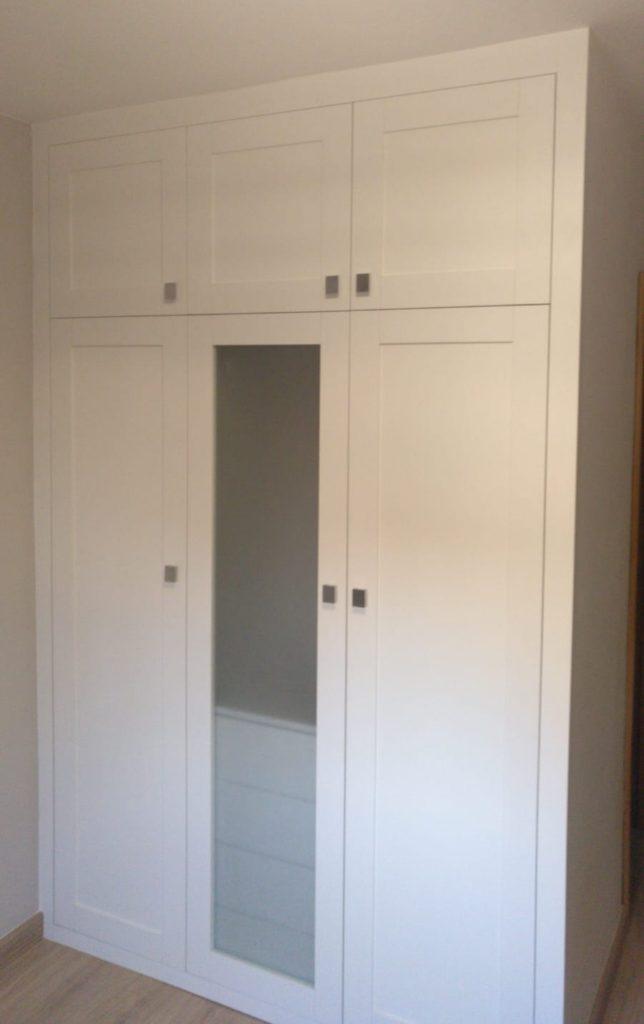 Puerta batiente 5 piezas blanco extrem